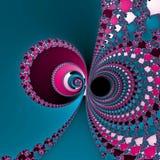 Шар Yin покрашенный yang накаляя Стоковое Изображение