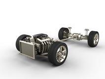 Шасси автомобиля с двигателем Стоковое фото RF