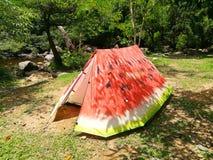 Шатер арбуза красивый располагаясь лагерем Стоковая Фотография RF