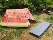 Шатер арбуза красивый располагаясь лагерем Стоковые Фото