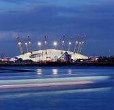 шатер 02 в Лондоне на ноче Стоковые Фотографии RF