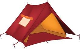 шатер красного цвета шаржа Стоковые Фотографии RF