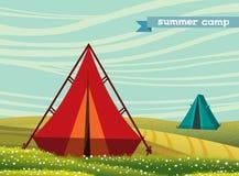 Шатер, летнего лагеря бесплатная иллюстрация