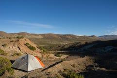 Шатер на боливийских горах ` s Стоковые Фотографии RF