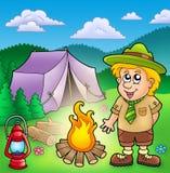 шатер разведчика пожара малый бесплатная иллюстрация