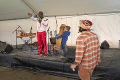 Шатер развлечений для детей Фестиваля du Bois стоковые фото