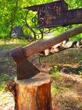 Шатер туриста гриля оси Стоковое Фото