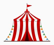 Шатер цирка Арена цирка с куполом в стиле шаржа вектор иллюстрация вектора