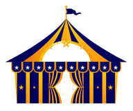 Шатер цирка голубой изолированный на белизне Стоковые Изображения RF