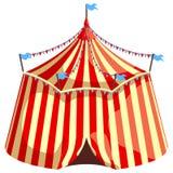 Шатер цирка изолированный на белой предпосылке Стоковое Изображение