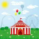 Шатер цирка на природе бесплатная иллюстрация