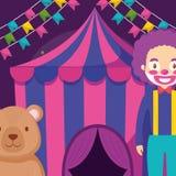 Шатер цирка с игрушечным медведя бесплатная иллюстрация