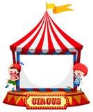 Шатер цирка с рамкой клоунов иллюстрация штока