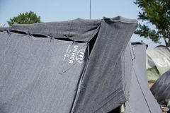 Шатер UNHCR Стоковые Изображения RF