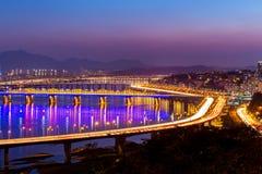 Шатия Хана в городе Сеула стоковые изображения rf