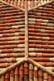 Шатровая крышка с красными плитками Стоковые Фотографии RF