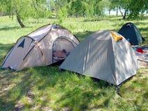 шатры наклона холма Стоковое фото RF