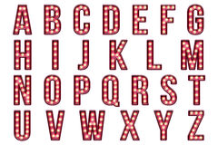 Шатёр бурлеска алфавита Scrapbook цифров Стоковое Фото