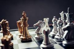 Шахматная доска - конкурсная идея дела преуспеть Стоковое фото RF