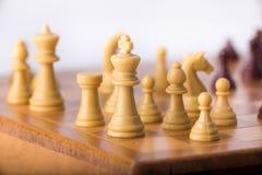Шахматная доска с chessmen Стоковое Изображение