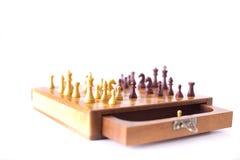 Шахматная доска с chessmen Стоковая Фотография