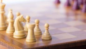 Шахматная доска с chessmen Стоковое фото RF