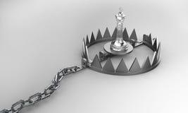 Шахматная фигура короля в ловушке Стоковое фото RF