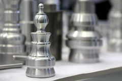 Шахматная фигура металла Стоковая Фотография RF
