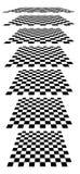 Шахматные доски, доски, checkered самолеты в различном perspe Стоковые Изображения RF