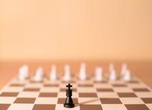 Шахматные фигуры как метафора - власть Стоковые Изображения RF