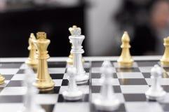 Шахматы дела, умное дело, деловая игра каждый обмен игры стоящий стоковое фото