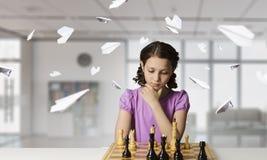 Шахматы для ухищренного разума Мультимедиа Стоковое Изображение