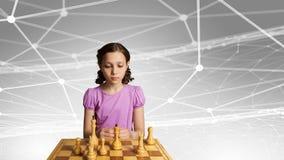 Шахматы для ухищренного разума Мультимедиа Стоковое Фото