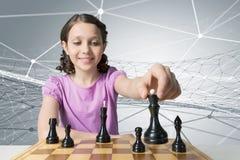 Шахматы для ухищренного разума Мультимедиа Стоковые Изображения