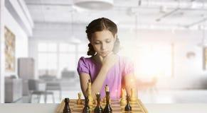 Шахматы для ухищренного разума Мультимедиа Стоковые Фотографии RF