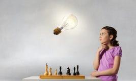 Шахматы для ухищренного разума Мультимедиа Стоковое Изображение RF