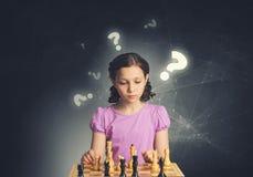 Шахматы для ухищренного разума Мультимедиа Стоковые Изображения RF