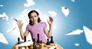 Шахматы для ухищренного разума стоковое изображение