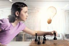 Шахматы для ухищренного разума стоковое фото rf