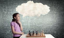 Шахматы для ухищренного разума стоковые изображения