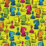 Шахмат безшовной картины Стоковые Фотографии RF