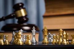 Шахмат в личном кабинете юриста Стоковая Фотография