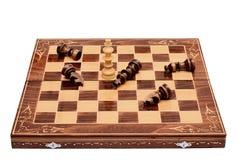 Шахмат дает вверх стоковое изображение