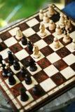 шахмат доски деревянный Стоковая Фотография