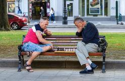 Шахмат игры людей Стоковое фото RF
