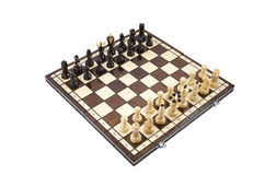 Шахмат, изолированный над белизной стоковое изображение