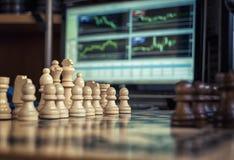 Шахмат и валюты Стоковое фото RF