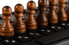 Шахмат и клавиатура Стоковое фото RF