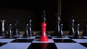 Шахмат, красная пешка стоковое изображение rf