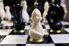 Шахмат много на доске Стоковое Фото
